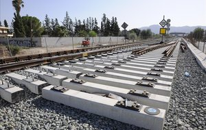 Un tramo de vías del corredor mediterráneo.