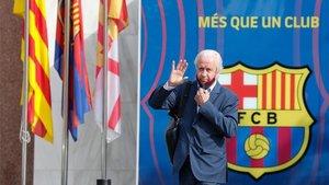 Carles Tusquets a la salida de las oficinas del FC Barcelona este miércoles.