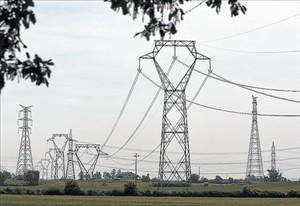 Una imagen del tendido eléctrico.