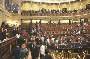 Panorámica del hemiciclo del Congreso, el pasado 21 de mayo.