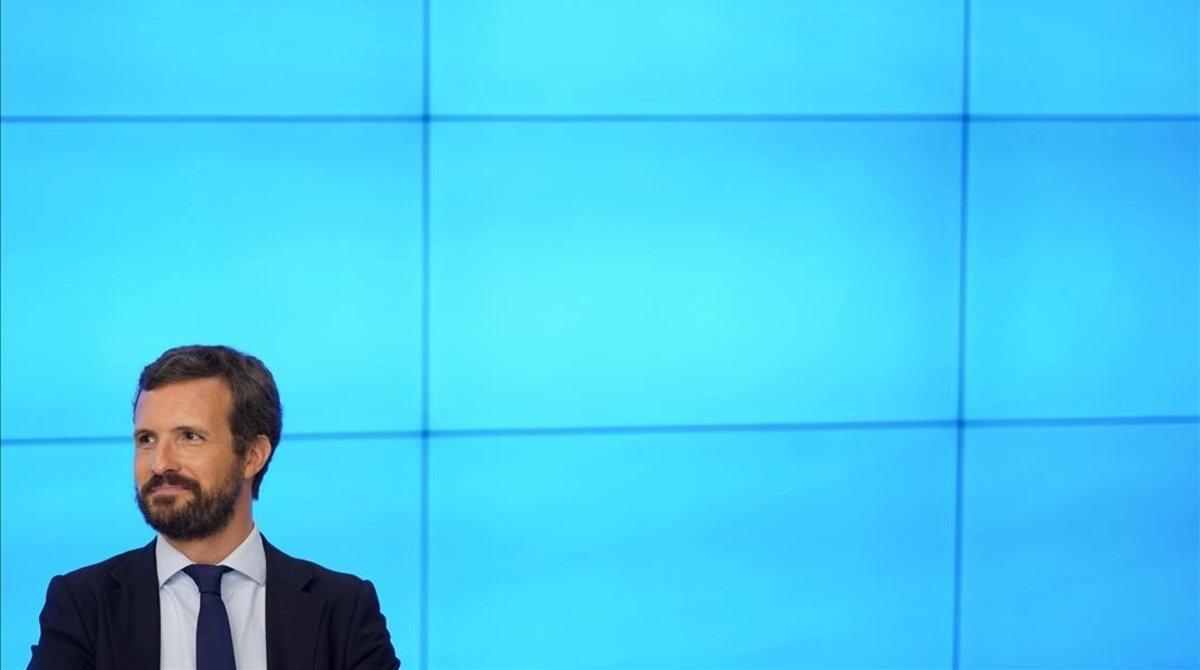Pablo Casado, en la junta directiva nacional del PP del 20 de agosto.