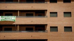 Urbanización construida sin habitar en Seseña, Toledo.