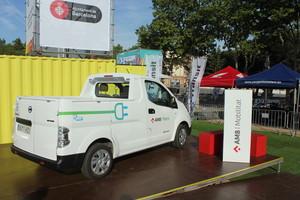 Vehicle elèctric de la flota de manteniment de parcs de lAMB.
