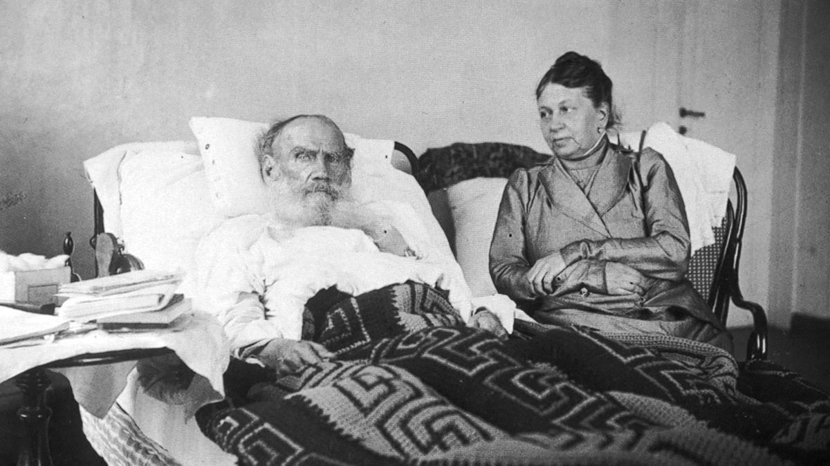 León Tolstói y su esposa, Sofia Tolstaia.