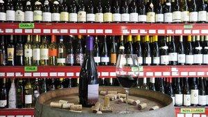 Tienda de vinos en Barcelona.