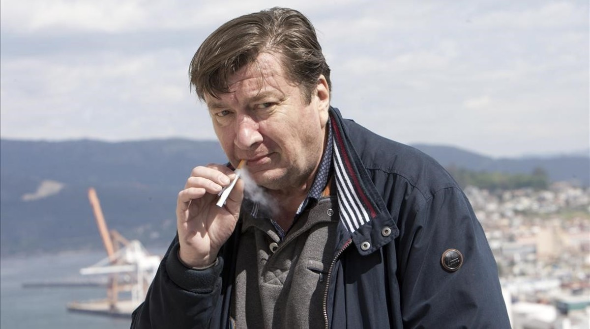 Aki Kaurismäki, en Vigo, donde presentó El otro lado de la esperanza.