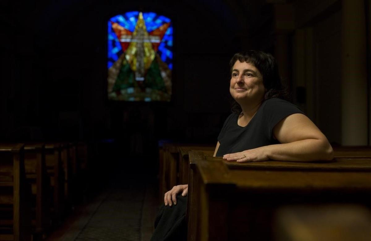 Marta López, en la Església Protestant Barcelona-Centre.