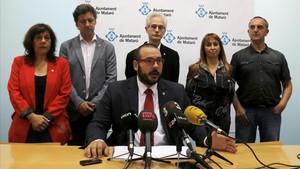 Compareixençade l'alcalde de Mataró, David Bote, amb els regidorsdel PSC.