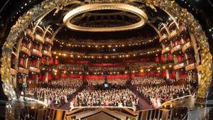 Vista general delDolby Theatre de Hollywood durante la última ceremonia de los Oscar.
