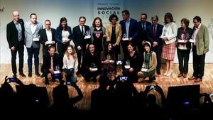 Los premiados por La Caixa a la Innovación Social.