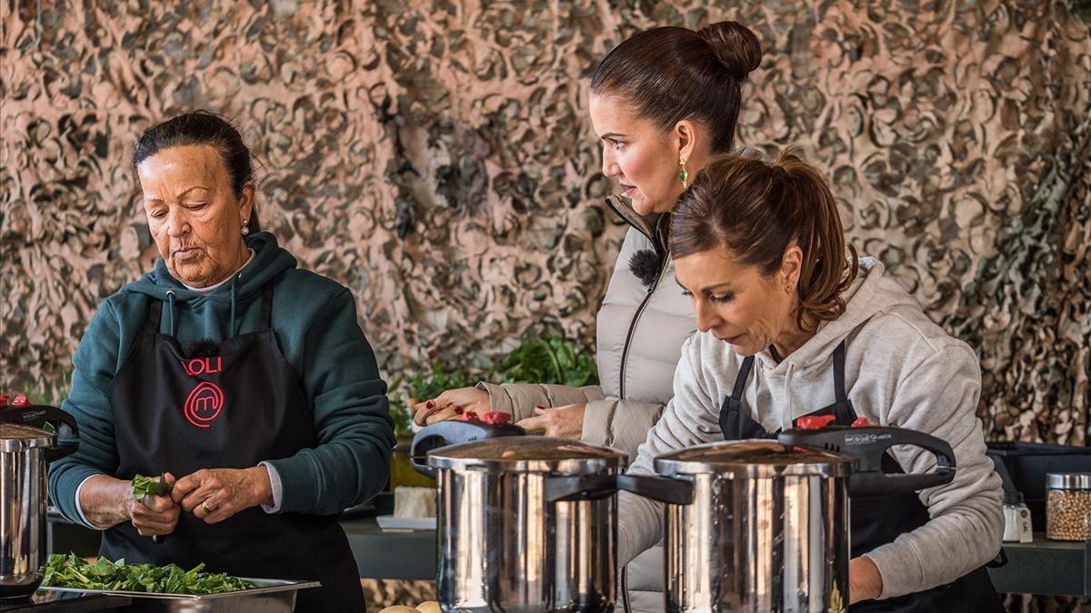 Imagen del concurso culinario de TVE-1 Masterchef.