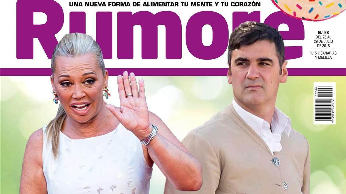 Portada del próximo número de Rumore con Belén Esteban como protagonista.