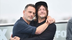 Andrew Lincoln y Norman Reedus, protagonistas de The Walking Dead, en el Comic-Con de San Diego.