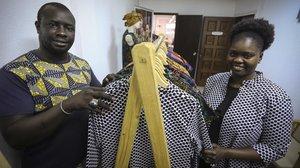 Pape Diop y Fatu Mbaye, exmanteros y ahora socios de la cooperativa Diamcoop.