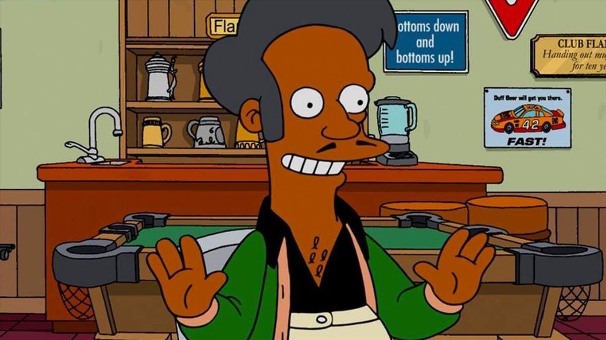 Apu, en un episodio de 'Los Simpson'.