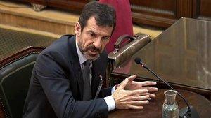 El comisario de los Mossos Ferran López, en su declaración ante el Tribunal Supremo.