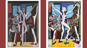 La danza, de Picasso (izquierda), y The Picasso Stones, de Ron Wood.