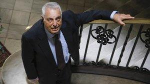 Jaume Bofarull, en una finca del Eixample.