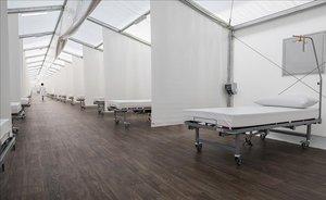 El hospital de campaña habilitado en València, casi listo para ser inaugurado, no se desmontará al menos hasta diciembre