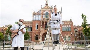 La Fura dels Baus', presentando'Nova Normalitat' y 'Espectacle Sorpresa', el pasado 11 de junio.