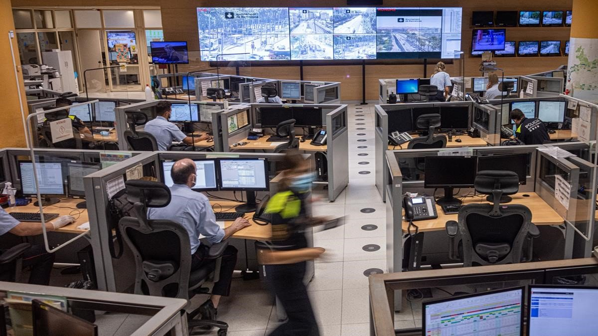 La sala de control regional desde la que se coordinó la búsqueda.