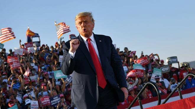 Trump llama cabrones idiotas a la CNN