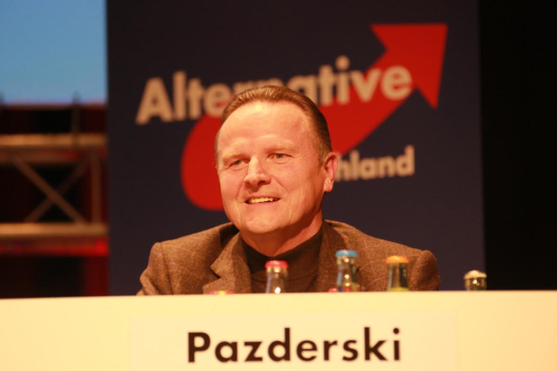 Georg Pazderski, candidato del ultraderechista AfD en Berlín.