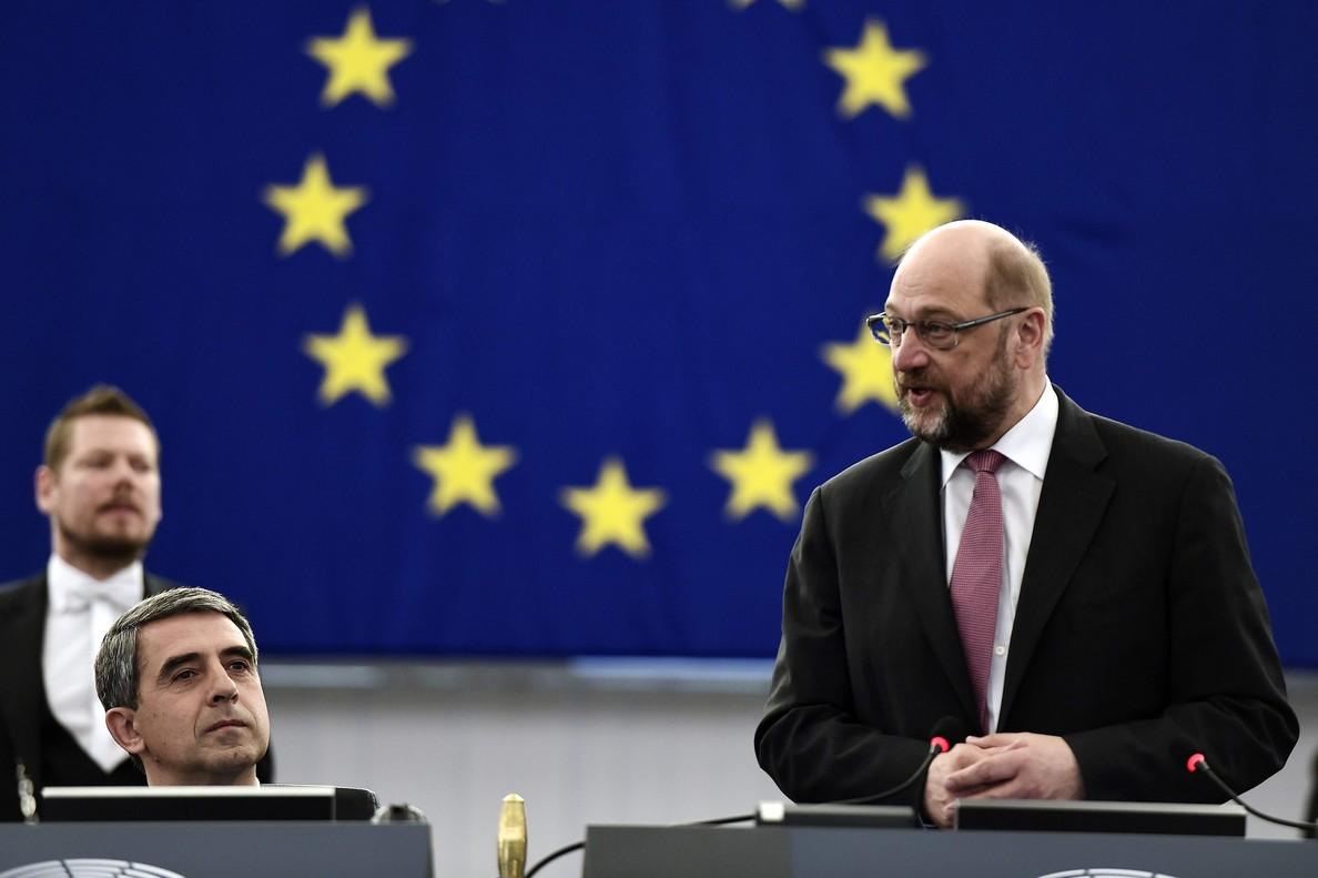 El presidente del Parlamento europeo, Martin Schulz, este miércoles 8 de junio.