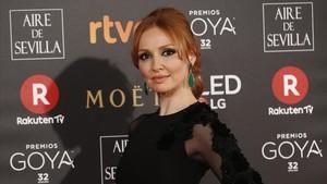Cristina Castaño en los Premios Goya