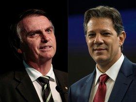 Bolsonaro obtuvo 46,03% de apoyo, seguido por el exalcade de Sao Paulo Fernando Haddad, con 29,28%, de acuerdo con los resultados divulgados por el Tribunal Supremo Electoral.