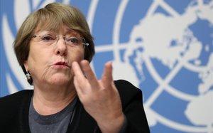 La alta comisionada de Derechos Humanos de la ONU, Michelle Bachelet.