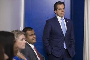 Antohony Scaramucci, nuevo portavoz de la Casa Blanca, el viernes en Washington.