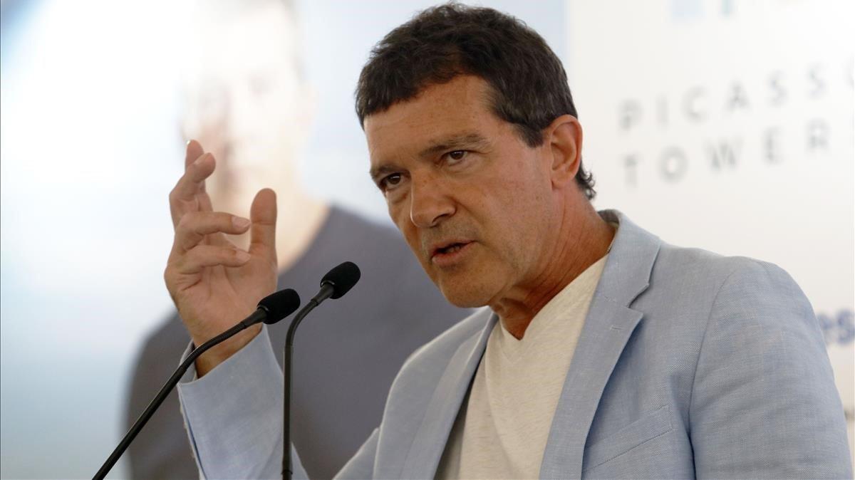 Antonio Banderas, en la presentación de la gala Starlite.