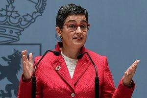 Arancha González, ministra de Asuntos Exteriores durante su toma de posesión.