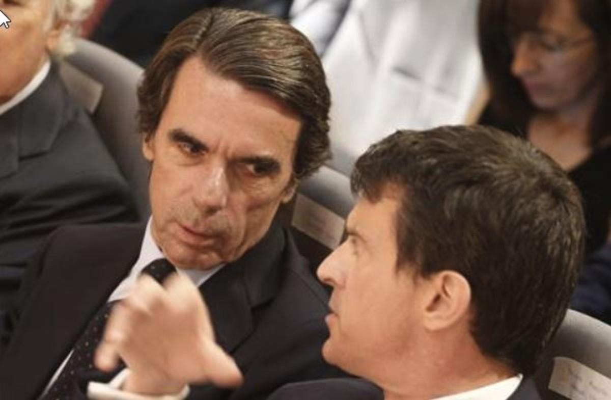 Valls pide ante Aznar la unión contra los populismos: el nacionalismo es la guerra