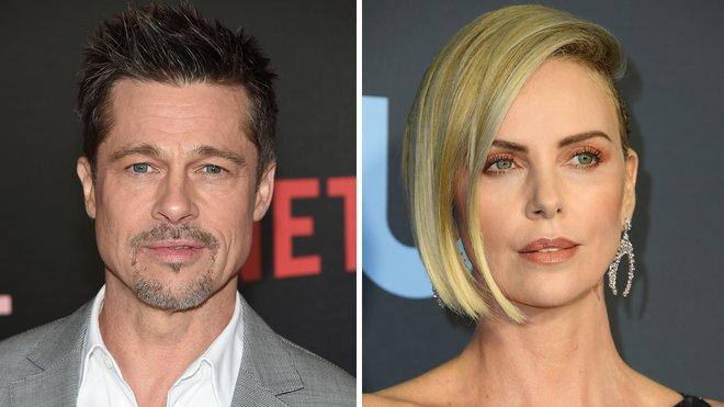 Brad Pitt y Charlize Theron.