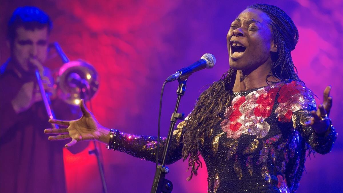 Buika, en su actuación en el Palau de la Música