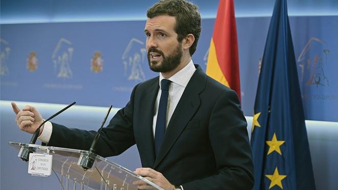 Casado justifica per què descarta l'abstenció: «El PP no es pot volatilitzar»