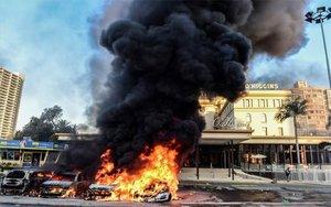 Enfrentamientos en Viña del Mar, Chile.