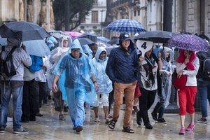Las temperaturas diurnas suben en el Cantábrico oriental y bajan en el resto de la Península y en Baleares.