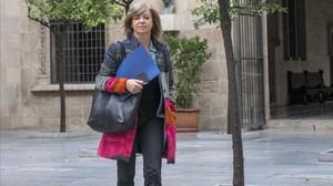 La consellera de Governació, Meritxell Borràs, en el Palau de la Generalitat.