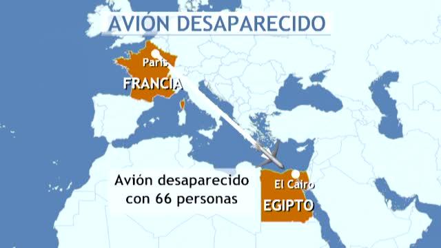 Desaparece un avión de Egyptair que unía París con El Cairo.