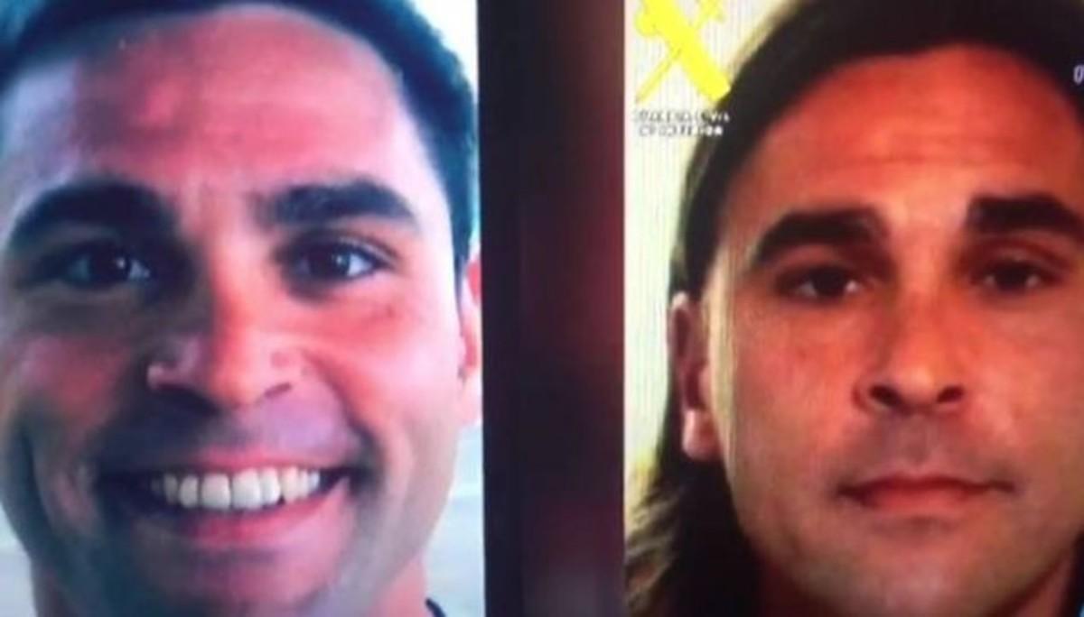 Dos imágenes de Guillermo Fernández Bueno difundidas por la Policía durante su fuga a Senegal.