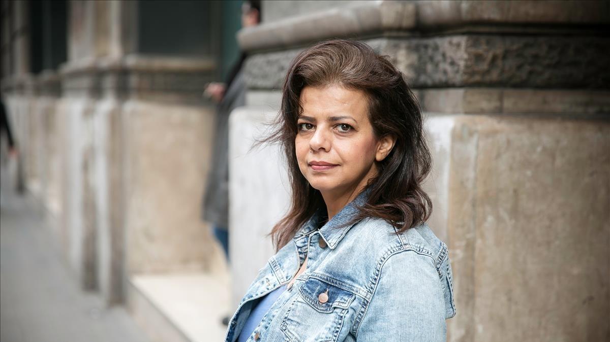 La activista yemeníWafa Abdel Fatah Ismail en Barcelona.