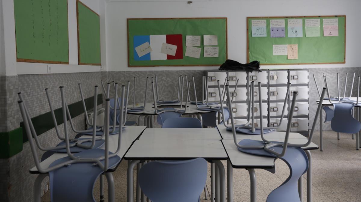 La escuela Nou patufet permanece cerrada por la jornada de paro.