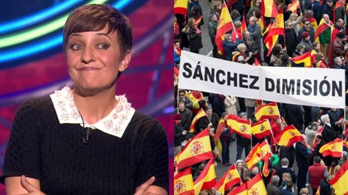 """Eva Hache estalla por la manifestación contra Pedro Sánchez: """"Sois unos mierdas"""""""