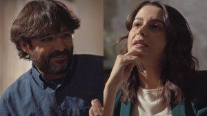 Jordi Évole e Inés Arrimadas.