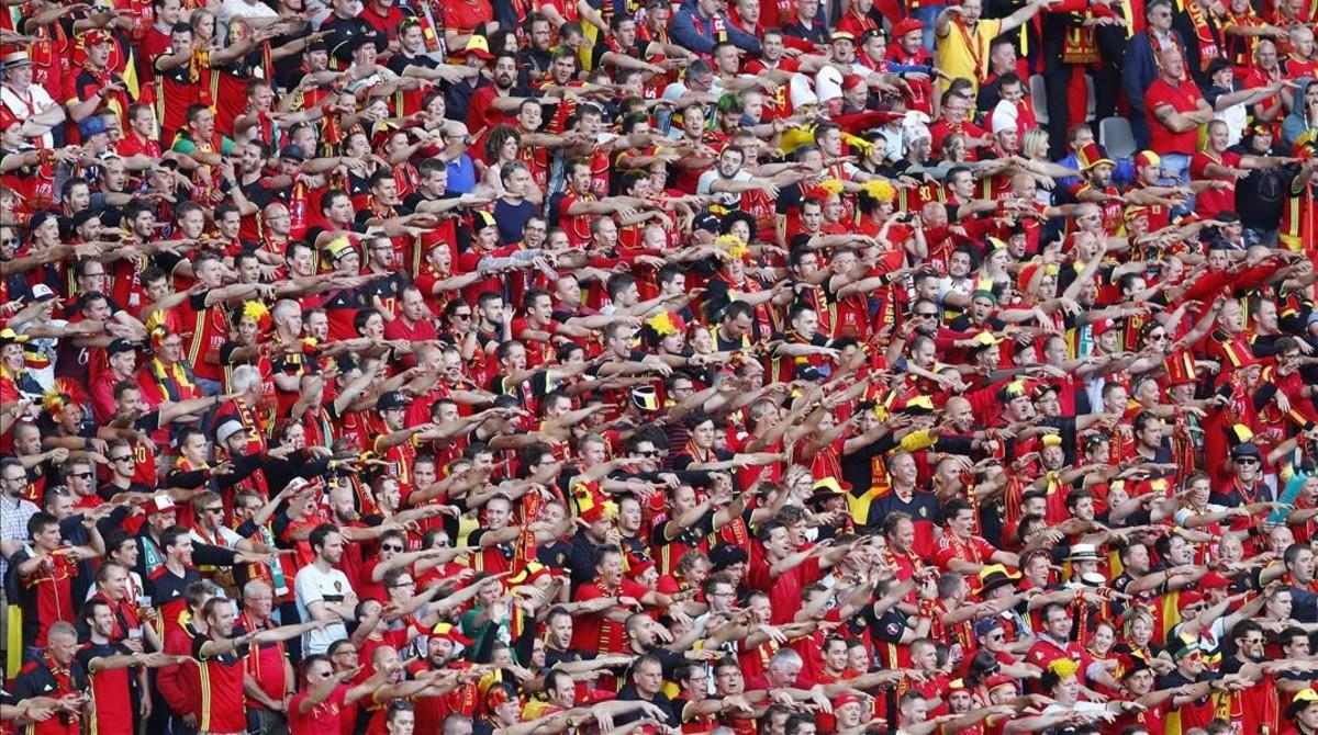 Fans belgas.