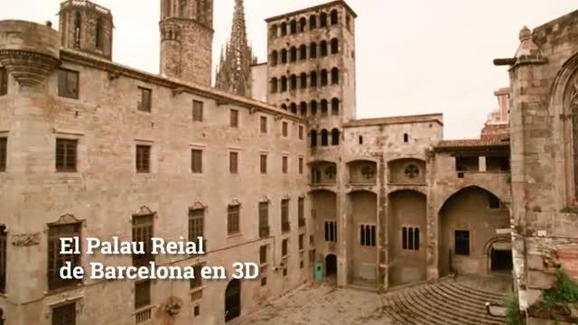 Fragmento del vídeo 3D del Muhba sobre la evolución del Palau Reial Major de Barcelona.