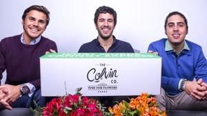 Sergi Bastardas (a la izquierda), Andrés Cester (en el centro) y Marc Olmedillo (a la derecha), fundadores de Colvin.